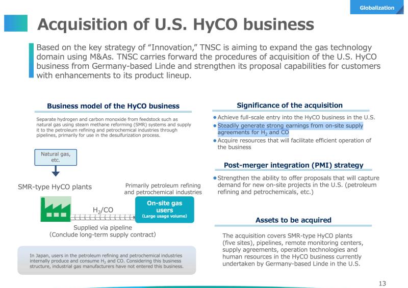 Nippon Sanso übernimmt das Wasserstoff-Business von Linde in den USA.