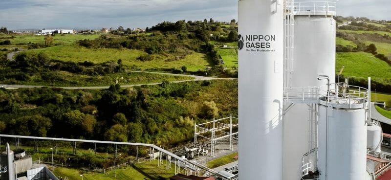 Bild einer Produktionsanlage von Nippon Sanso.