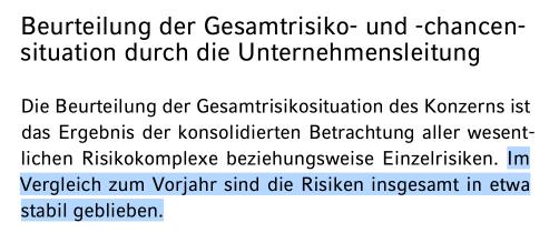 Insgesamt haben sich die Risiken von HeidelbergCement wohl nicht erhöht.