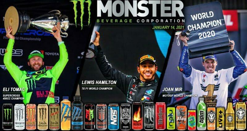 Die verschiedenen Marken von Monster Beverage in der Übersicht.